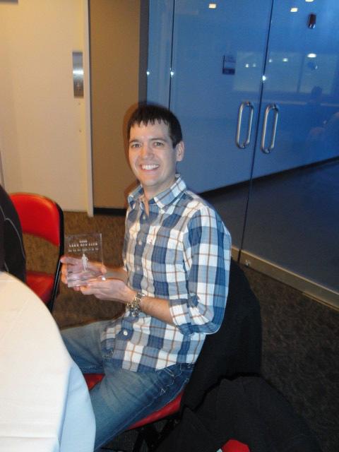 Rob and his 2009 LRC Award.