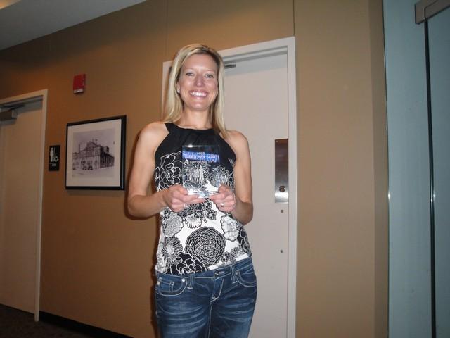 CJ with her 2009 LRC Award.